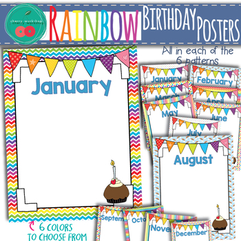 Rainbow Birthday Posters
