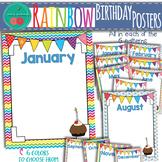 Rainbow Birthday Posters