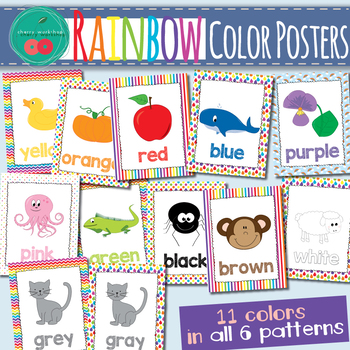 Rainbow Color Posters