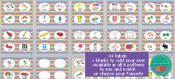 Rainbow Supply Labels