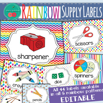 Rainbow Supply Labels