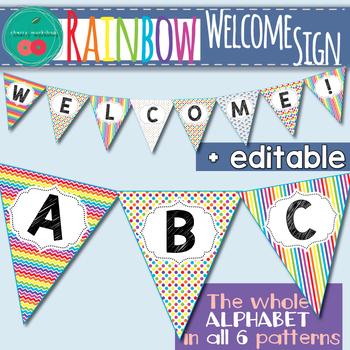 Rainbow  Welcome Banner