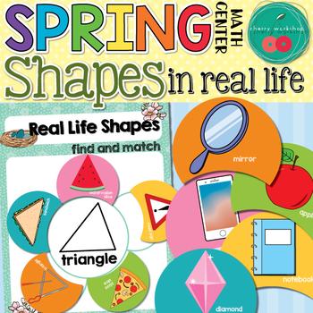 Spring Math Center Shapes