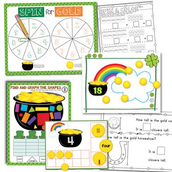 St Patrick's Day Math Centers BUNDLE