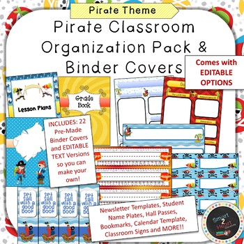 Pirate Binder Covers and Classroom Organization Pack