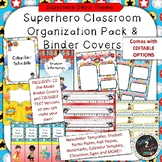 Superhero Themed Binder Covers and Classroom Organization Pack