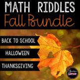 Math Riddles Fall Bundle