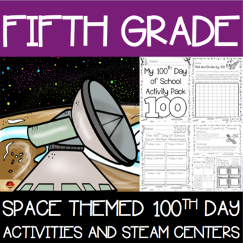 100th Day of School Space Themed {Fifth Grade}