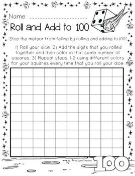 100th Day of School Space Themed {First Grade}