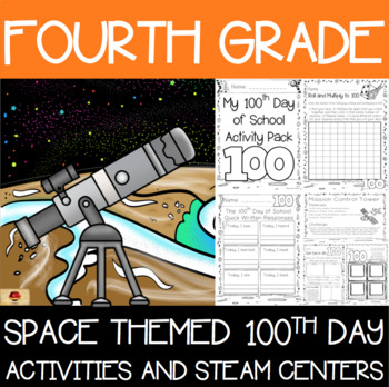 100th Day of School Space Themed {Fourth Grade}