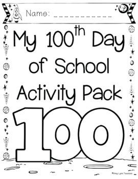 100th Day of School Space Themed {Kindergarten}