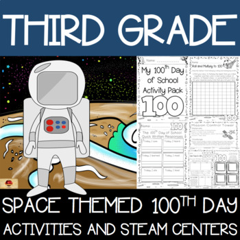 100th Day of School Space Themed {Third Grade}