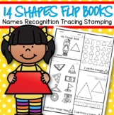 14 SHAPES Flip Books - Shape Names, Recognition Tracing Stamping