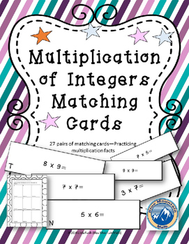 Multiplication Facts Matching Cards