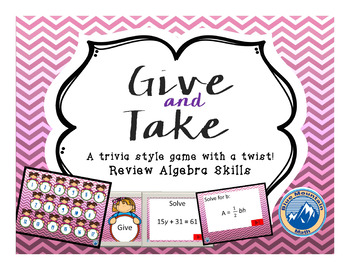 Give and Take Equation Review PPS