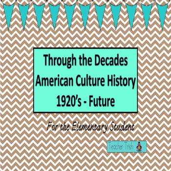 Through the Decades American Cultural History 1920-Future