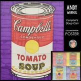 Andy Warhol Campbell's Soup Cans Collaboration Poster Great Art History Sub Plan