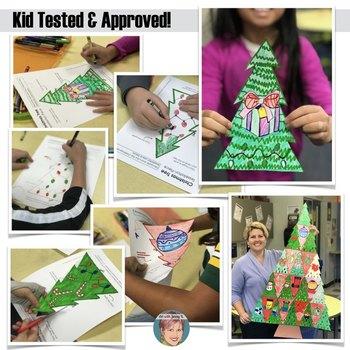 Tessellated Christmas Tree - Collaborative Christmas Activity / Christmas Craft