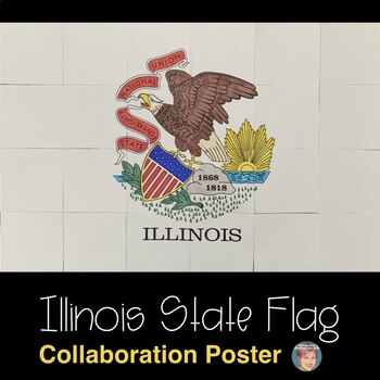 Illinois State Flag Collaboration Poster
