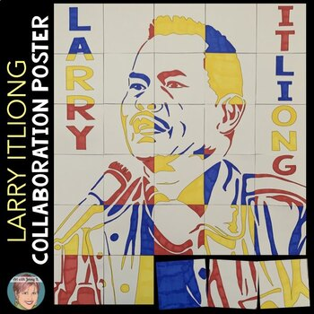 Larry Itliong Collaboration Poster   Filipino American History Month Activity