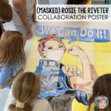 """**50% off 2 Days** (Masked) Rosie the Riveter - """"We Can Do"""