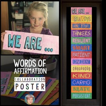 Words of Positive Affirmation Collaboration Poster | Testing Motivation!