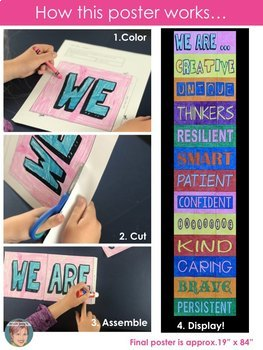 Words of Positive Affirmation Collaboration Poster | Great for Back to School!