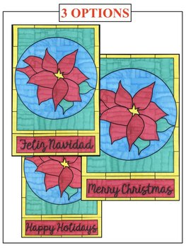 """""""Stained Glass"""" Poinsettia Collaboration Poster"""