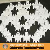 Halloween Writing: Ghost Story Tessellation Project | Fun Halloween Activity!