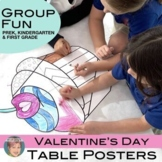 Valentine's Day Group Coloring Activity:  Valentines Day T