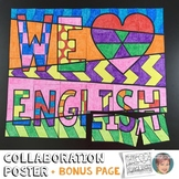 "We ""Heart"" English Collaboration Poster"