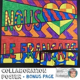 "We ""Heart"" French Collaboration Poster - Great for Nationa"