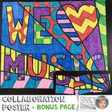 "We ""Heart"" Music Collaboration Poster"