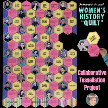 Women's History Month Collab Tessellation Poster - International Women's Day