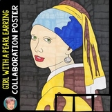 Girl with the Pearl Earring by Vermeer Collaboration Poster