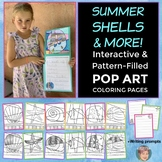 Seashells & More Summer  Coloring Pages