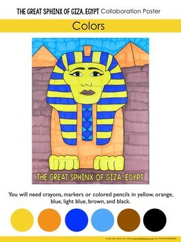 The Great Sphinx of Giza, Egypt Collaboration Poster - Ancient Egypt