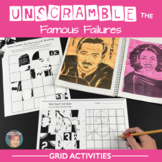 Unscramble the Famous Failures - Grid Activities - Great for Growth Mindset
