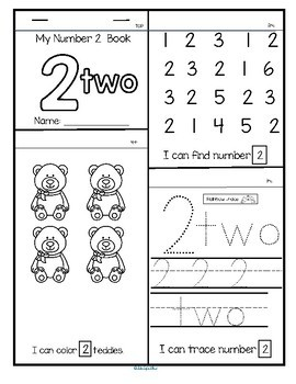 20 NUMBERS FLIP Books - Number Recognition, Tracing and Counting