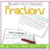 3rd Grade Fractions Math Challenge Task Cards