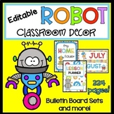 Robot Editable Classroom Decor Set