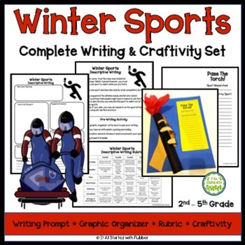 Winter Sports Writing and Craftivity Set