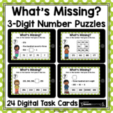 3-Digit Number Puzzles | BOOM Cards Distance Learning