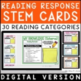 Digital Reading Response Stem Cards