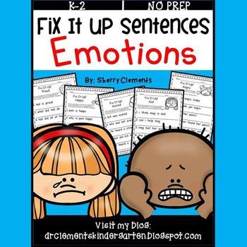 Emotions Fix It Up Sentences