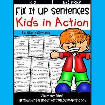 Kids in Action Fix It Up Sentences