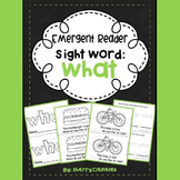 Sight Word Reader WHAT
