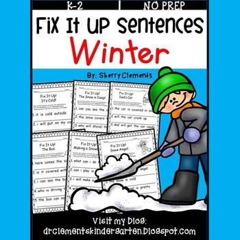 Winter Fix It Up Sentences