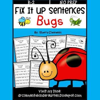 Bugs Fix It Up Sentences