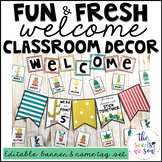 Cactus Classroom Decor: Editable Banner and Name Tags